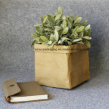 Washable Kraft Paper Storage Bag Toy Plant Pot for Christmas Decoration