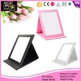 Factory Price Wholesale Custom PU Cosmetic Makeup Mirror (8165)