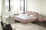 Bedroom Furniture Soft Bed Leather Bed