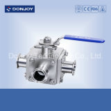Ss Non-Retention 3-Way Ball Valve for Wine Processing
