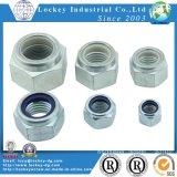 Satinless Steel / Steel Hex / Flange Nylon Nut