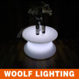 PE Plastic RGB Color Changing LED Coffee Table