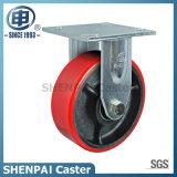 "8"" Heavy Duty Iron-Core PU Rigid Caster Wheel"