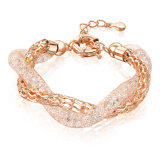 Dubai Gold Jewelry Alloy Bangle Fashion Crystal Women Bracelet