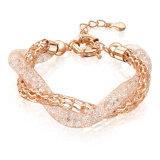 Dubai Gold Jewelry Alloy Bangle Fashion Crystal Women Bracelet
