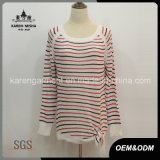 Trendy Striped Ribbed Sweater Womens Fashion