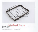New Design BBQ Kabab Rack and Skewers