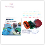 3 Pack EVA Rolling Self-Inking Stamps Toy for Kids