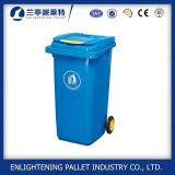 Outdoor Street Park Pedal Plastic Dustbin with Wheel