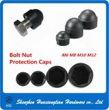 Black White Nylon Plastic Protective Cover Cap for Bolts Nuts