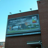 Outdoor Wall-Mounted Aluminium Trivision Rotating Billboard