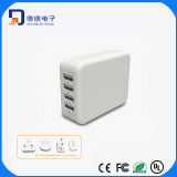 4 Ports Universal USB Charger with Four Exchangeable AC Plugs