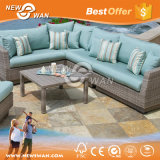 Waterproof PE Rattan Outdoor Sofa Set with Patio Umbrella (Furniture)