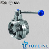 Threaded Stainless Steel Sanitary Butterfly Valve