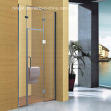 Simple Bathroom Temper Glass Shower Screen (A-8910C)