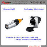 Cnlinko Cat5e RJ45 Connectors/ Industrial RJ45 Connector for LED Screen