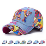 Women Fashion Patch Embroidered Cotton Denim Baseball Cap (YKY3046)
