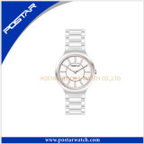 All Ceramic Quartz Fashion Wrist Watch with IP Rose Gold Plating
