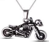 Trendy New Design Metal Skull Motorbike Pendant