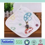 100% Cotton Gauze Muslin Square Mushroom Pattern Handkerchief Kids Hand Towel