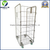 3-Sides Big Wire Mesh Hand Trolley/Roll Pallets/Roll Containers