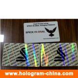 3D Laser Security Transparent ID Hologram Overlays