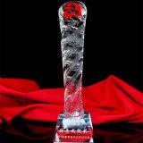 Cylinder K9 Glass Crystal Trophy for Souvenir