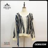 Women Zebra-Stripe Leisure Knitwear Pullover Sweater