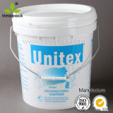 15L Plastic Paint Pail with Lid and Metal Handle