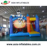 Inflatable Walking Man on Moon Bounce House with Slide