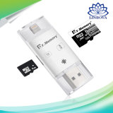 Dr. Memory 3 in 1 Micro SD Card Reader Lightning USB 2.0 OTG TF Card Memory Card Reader for iPhone PC Android