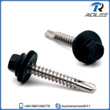 410 Stainless Painted Head Self-Drilling Roofing Screw with Bonded Washer