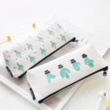 Kawaii Cute Korean Cactus Canvas Pencil Case Storage Organizer Pen Bags Pouch Pencil Bag Pencilcase School Supply Stationery