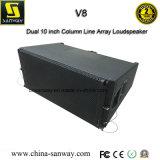 V8 3 Way Dual 10 Inch Column Line Array Loudspeaker