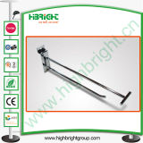 Fashion Light Duty Metal Chrome Slatwall Display Hook