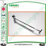 Fashion Light Duty Metal Chrome Slatwall Display Hook