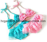 Lovely Kids Swimming Suit, Lace One -Piece Girl′s Swimming Wear