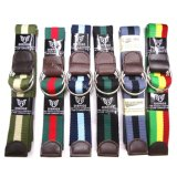 Unisex Fashion Colorful Stripes Fabric Belts Supplier
