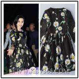 Fashion Elegant Charming Floral Women Long Sleeve Dress