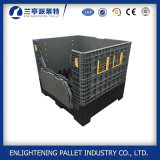 Plastic Pallet Box with 4 Closed Foldable Walls for Sale