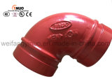 FM/UL Approved Ductile Iron 90 Degrees Grooved Elbow