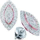 Marquise Stud Earring 925 Sterling Silver Jewelry
