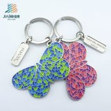 Jiabo Craft Designed Metal Soft Enamel Colored Butterfly Keychain