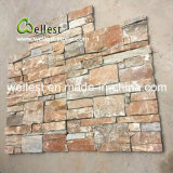 Yellow Wood Natural Stacked Stone for Wall