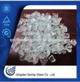 Crushed Glass Chips, White Clear