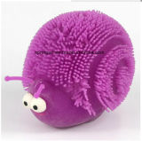 Kids Plastic Toy with Flash Fuzzy Ball Snails