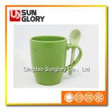 Glazed Porcelain Mug with Spoon of Chb006