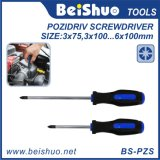 Household Handtools Pozidriv Screwdriver with Comfort Handle