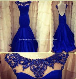 Blue Party Dresses Backless Evening Prom Dresses Rz41