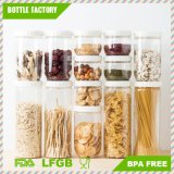 Clear Kitchen Round Transparent Plastic Food Containers with Lid/Keeps Contents Fresh and Secure, Clear